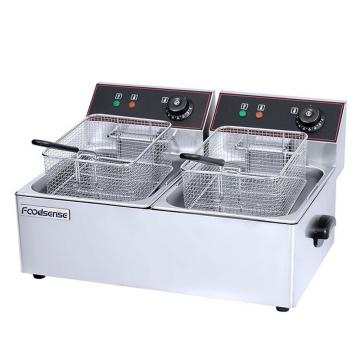 4L Twin Tank Commercial Table Top Electric Potato Chips Fryer